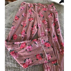 Victoria's Secret Floral Pajama Pants Size XL